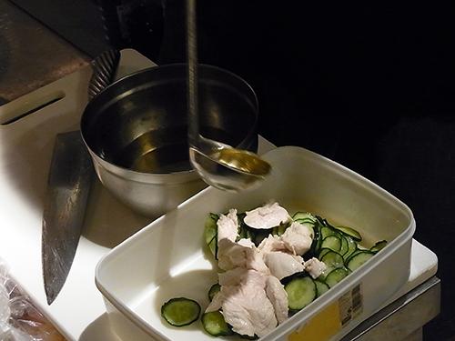 ササミと胡瓜の酢の物イーク風味